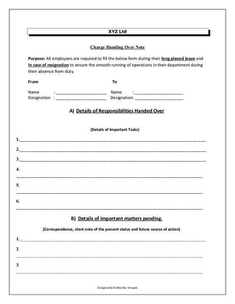 handover template form handover report template free premium