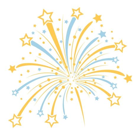 fuochi d artificio clipart 12 firework vector clear background images colorful