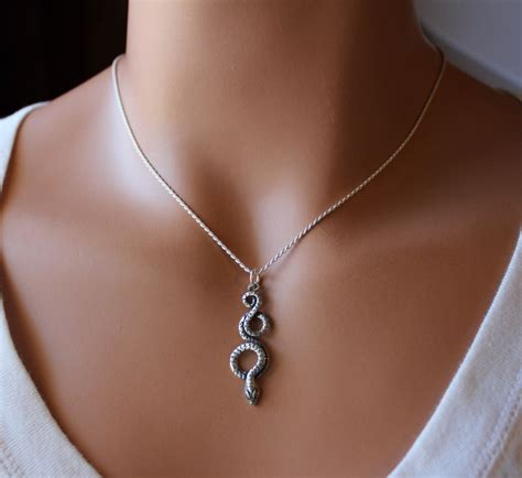 Snakes On A Ring Snakes On A Necklace Snakes By Sydney Evan by Coiled Snake Sterling Silver Pendant Necklace Oxidized