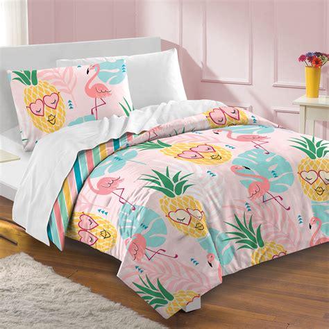 home design bedding pineapple flamingo comforter set 3pc for pink bedding home decor gift 42075525002 ebay