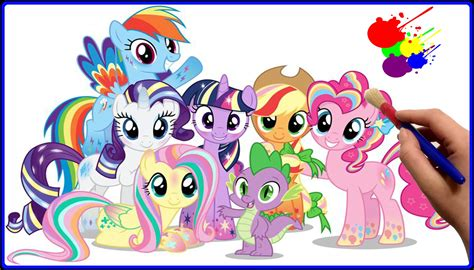 my little pony rainbow power coloring pages mlp friendship is magic rainbow power coloring book for
