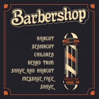 barber shop price list template barber vectors photos and psd files free download