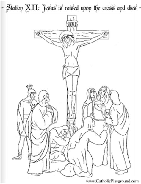coloring page jesus cross coloring page for the twelfth station of the cross jesus