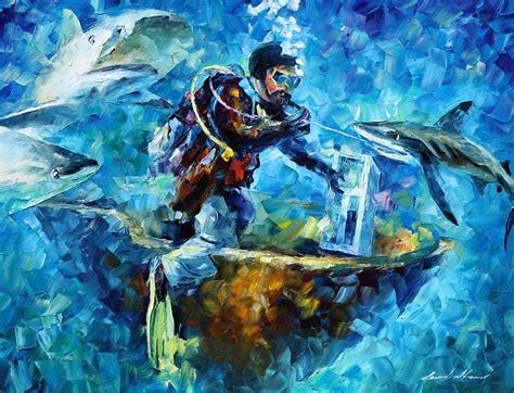 Home Decor App under water painting by leonid afremov