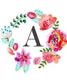 free printable flowers pinterest floral monogram free printable wall art printables