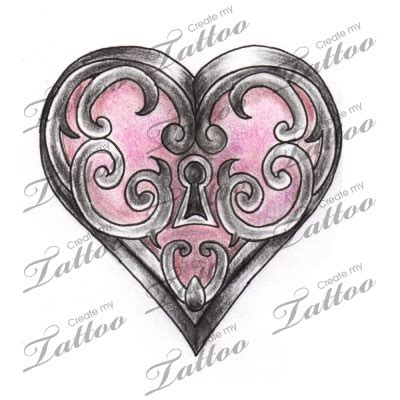 key tattoo png images of marketplace tattoo heart locket