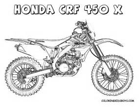 dirt bikes colouring pages