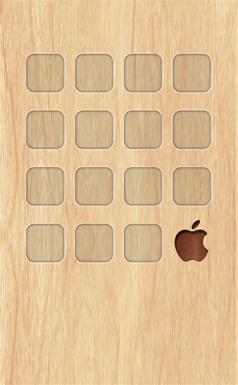 Creative Wood Apple Logo Android Iphone 4 4s 5 5s 5c 6 6s 7 Plus apple wood shelf wallpaper sc iphone4s