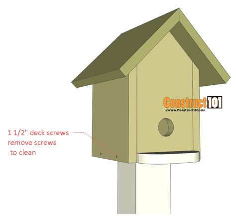 bluebird house plans free bluebird house plans illustrated plans construct101