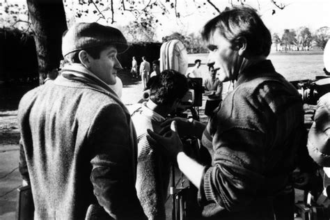 Director Peter Weir And Robin Williams On The Set Of Dead