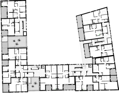 housing floor plans free gallery of 58 social housing in antibes atelier pirollet