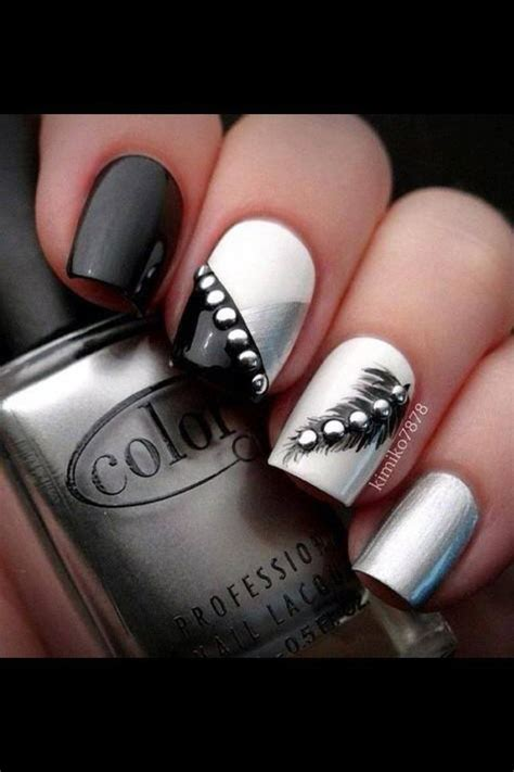 imagenes de uñas de acrilico color negras u 241 as negras decoradas perfectas para toda ocasi 243 n