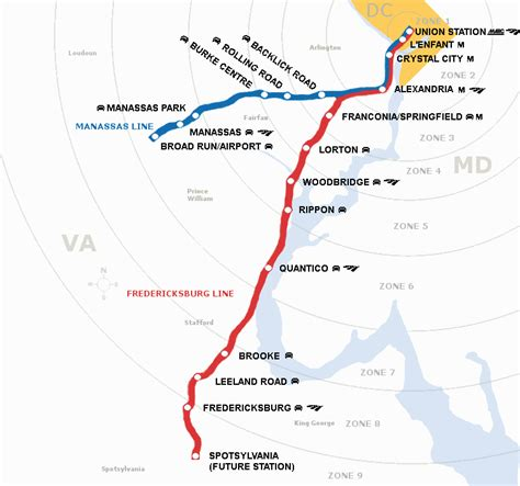 vre map overview map virginia railway express
