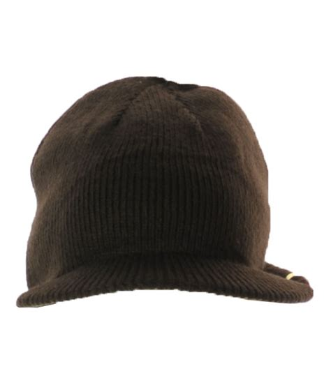 mens knit hat with brim american rag mens knit reversible brimmed beanie hat brown