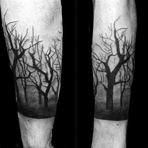 black and grey forest tattoo 100 forest tattoo designs for men masculine tree ink ideas