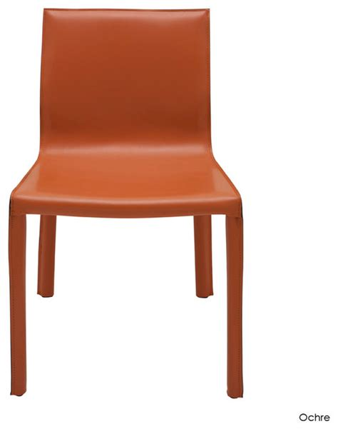 colter dining chair set of 2 ochre contemporary