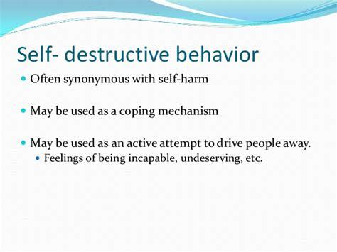 11 Self Destructive Behaviors by Self Destructive Behaviors And Survivors Of