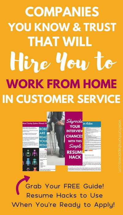companies you trust that hire you to work from home