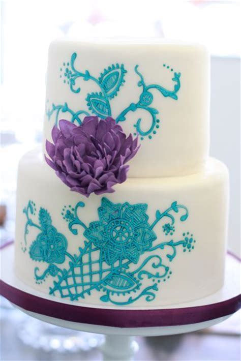 Lila Top Teal White 17 best ideas about teal wedding cakes on teal