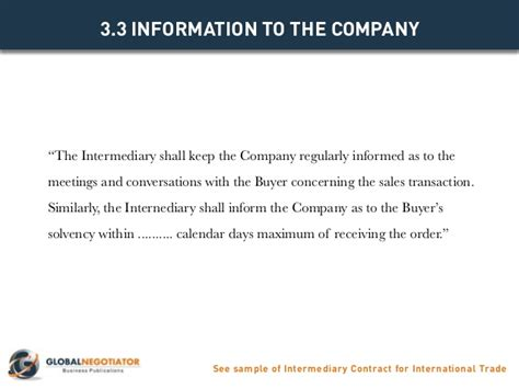 international trade contract template intermediary contract for international trade contract