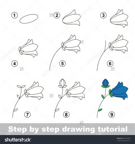 sketch to vector tutorial how to draw a flower step by step for kids pencil art