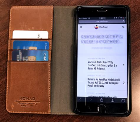 Nomad Leather Folio Iphone X Brown Traditional review nomad leather folio a wallet for
