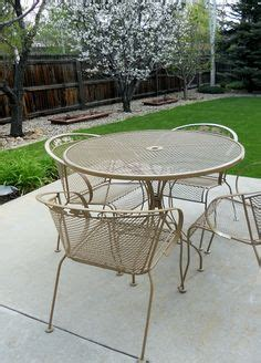 refinish metal patio furniture refurbishing wrought iron furniture