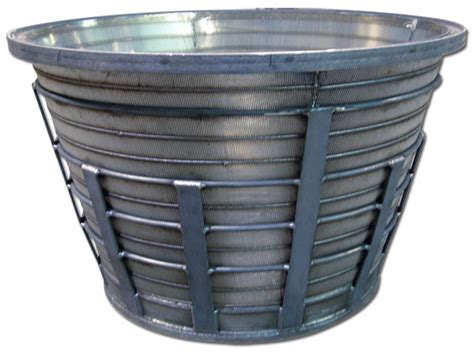 screen baskets wedge wire screens in mining mineral processing stainless steel mineral processing screen