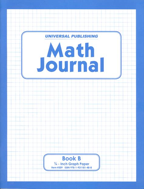 math journal book b grades 4 amp up 054483 details