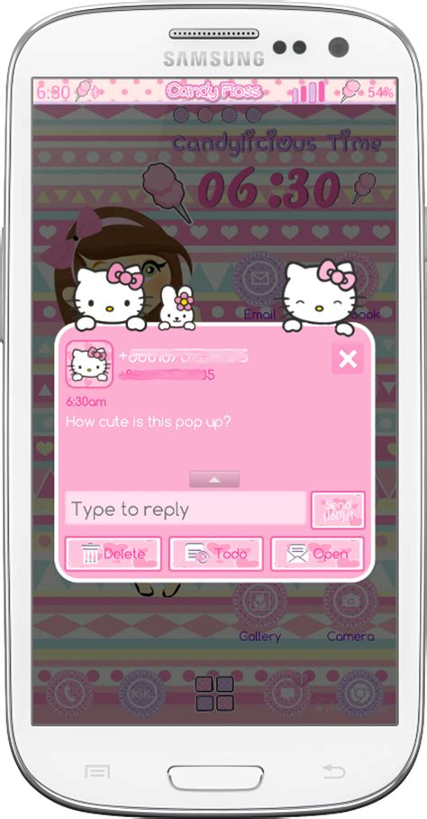 go sms themes hello kitty black download theme android cute hello kitty go sms and go