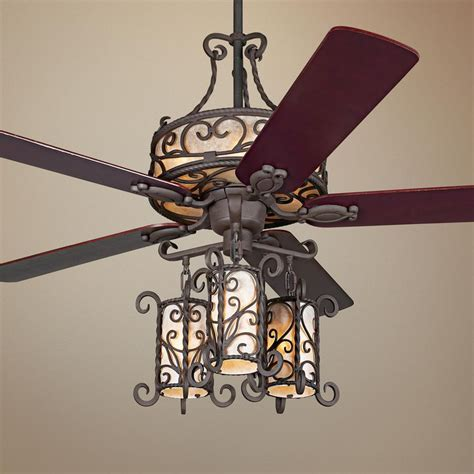 spanish style ceiling fans 60 quot john timberland 174 seville iron ceiling fan with remote