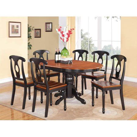 7 oval dining table set 7 pc oval dining table and chairs set walmart com