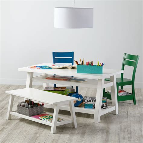 white play table play tables activity tables the land of nod