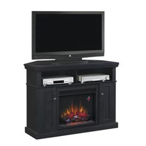 Style Selections Modern Media Electric Fireplace by Style Selections 47 75 In W 4 600 Btu Black Wood Corner Or