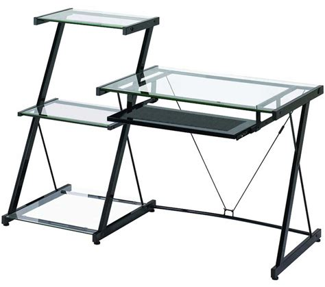 limble ii glass computer desk z line glass computer desk for home office