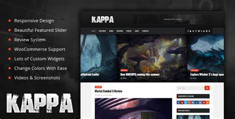 html game themes kappa a gaming wordpress theme by phpface themeforest