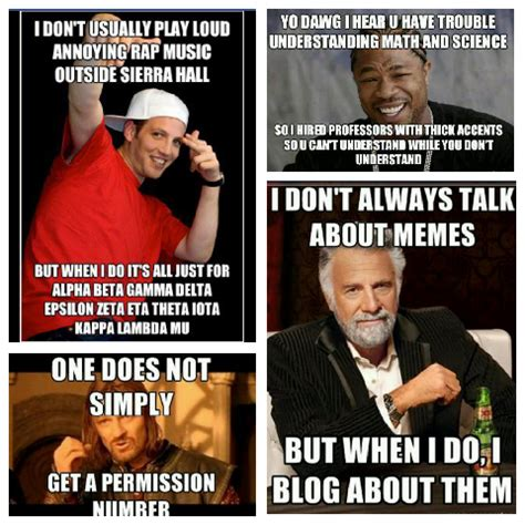 Exles Of Internet Memes - one does not simply write an essay about memes janise