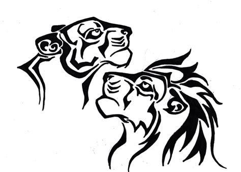 lion and lioness tattoo