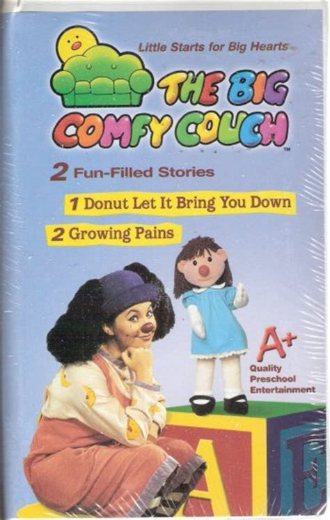 big comfy couch growing pains the big comfy couch vhs 2004 brand new donut let it