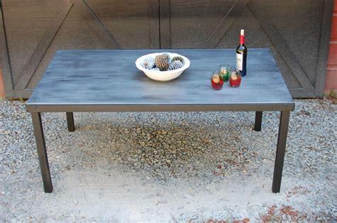 zinc top outdoor table zinc top indoor outdoor dining table southern
