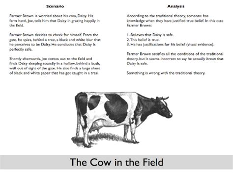 About Cow In Essay by God And The Gettier Problem If God Existed Was Theistic Belief Justified Justinvacula