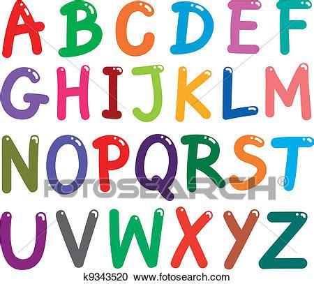 crediti insegnamento lettere clipart colorito capitale lettere alfabeto k9343520