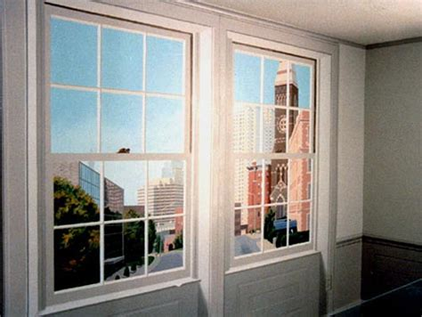 L Windows by Commissions Trompe L Oeil Windows With View Chair Rail And Wainscoting Barbara Johnson
