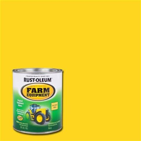 rust oleum specialty 1 qt deere yellow gloss farm equipment paint 7443502 the home depot