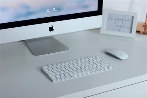 apple schreibtisch arbeitsplatz eames stuhl dekoration und imac