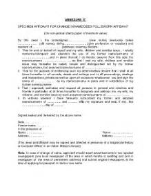 Appointment Letter Format With Annexure Affidavit For Name Correction In Passport Fill Online