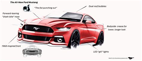 exterior design of car ford mustang exterior design elements car body design