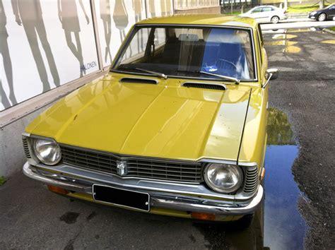 yellow toyota corolla mustard yellow museum piece 1973 toyota corolla hooniverse