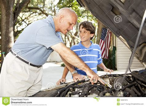 father son projects father son project royalty free stock image image 18367876