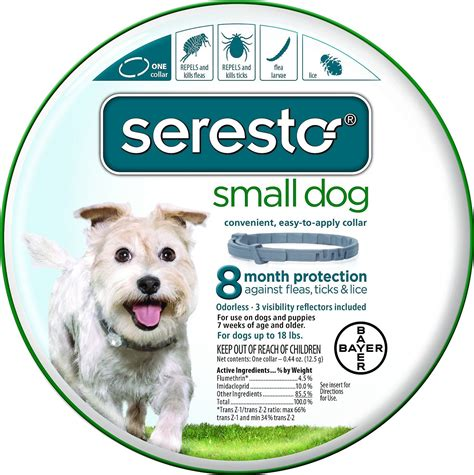 seresto flea collar small seresto 8 month flea tick collar for small dogs chewy